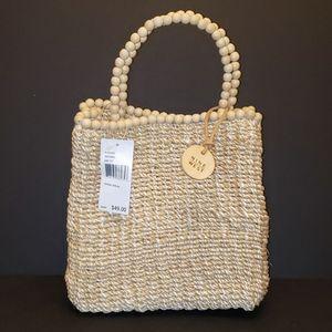 Nine West Natural Straw Spring Break Tote Handbag
